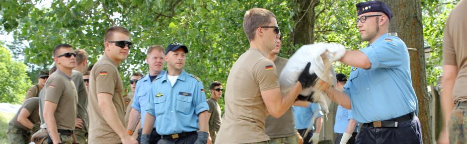 Größter Fluthilfeeinsatz in der Geschichte der Bundeswehr