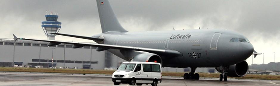 MedEvac-Airbus der Luftwaffe holt Verletzte aus Kiew