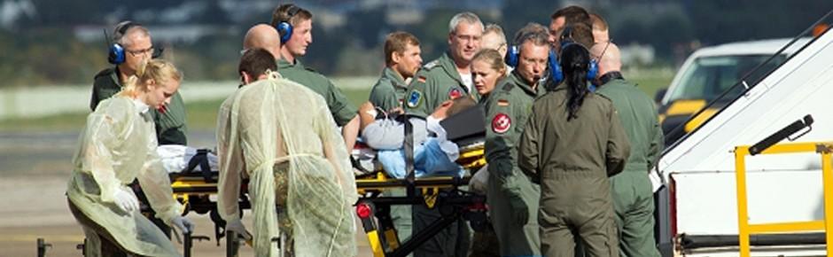 Bundeswehr hilft verwundeten ukrainischen Soldaten