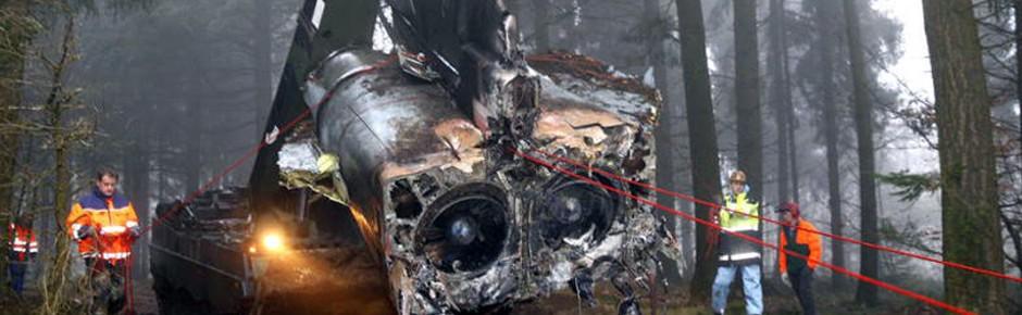 Militärische Flugunfälle über deutschem Hoheitsgebiet