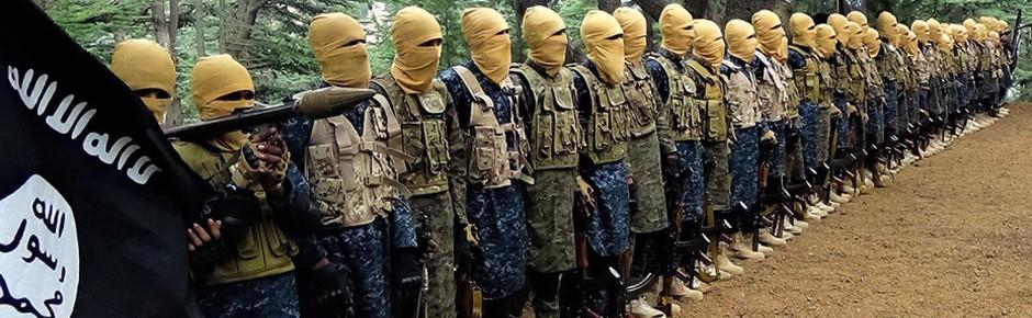 IS-Kämpfer mit Waffen aus deutscher Fabrikation