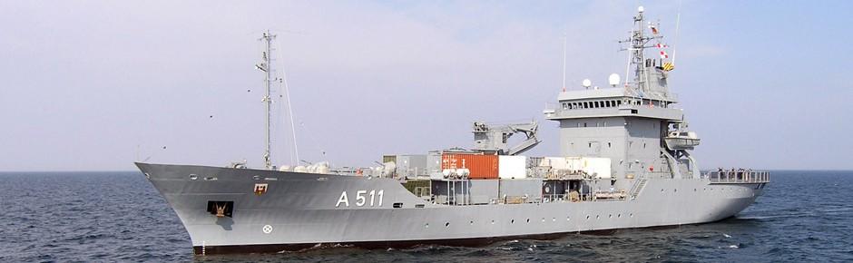 "Tender ""Elbe"" jetzt Flaggschiff im NATO-Verband"