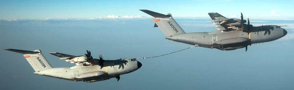 Airbus baut Tankerrolle für Transporter A400M aus