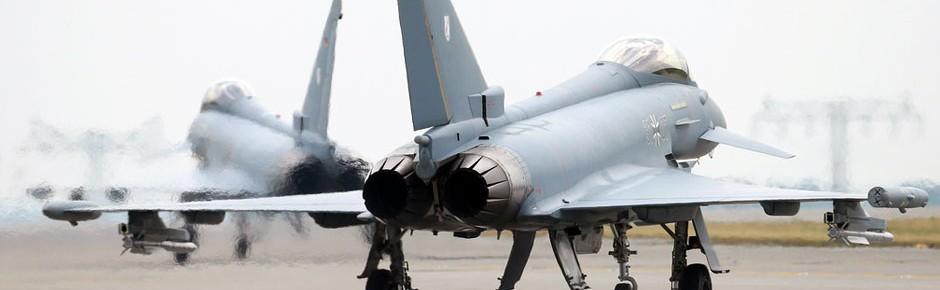 Eurofighter-Alarmrotten auch 2016 häufig gefordert
