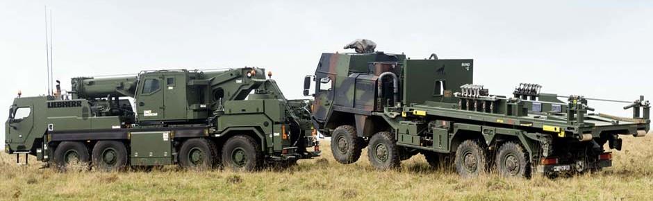 Truppe erhält 71 neue geschützte Mobil- und Bergekrane