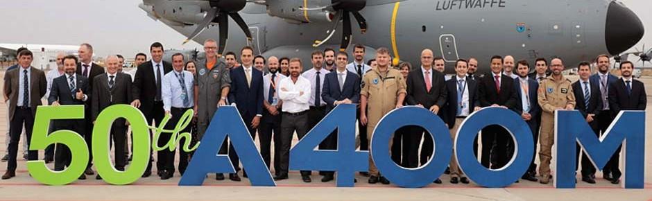 Airbus-Jubiläum: 50. Militärtransporter A400M ausgeliefert
