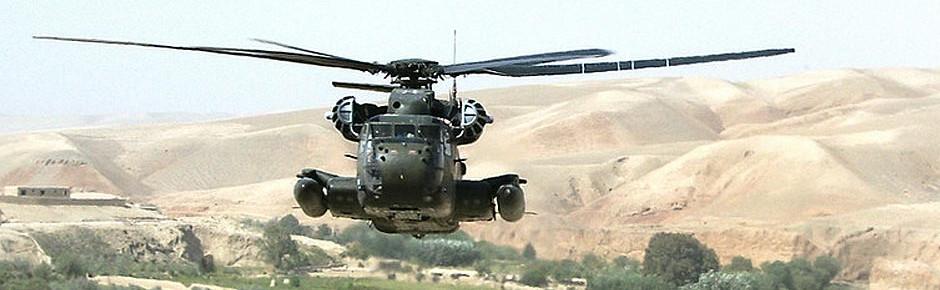 CH-53GS in Nordafghanistan mit Handwaffen beschossen
