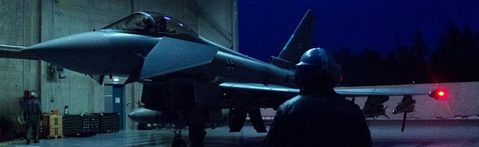 Eurofighter der deutschen Luftwaffe wachen im Baltikum