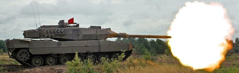 Moderne Übungsmunition DM88 für Kampfpanzer Leopard 2
