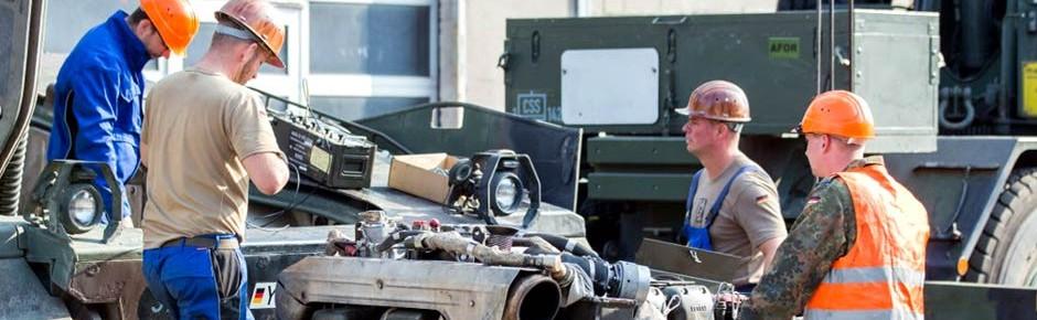 Gepanzerte Fahrzeuge: Instandsetzung durch die Industrie