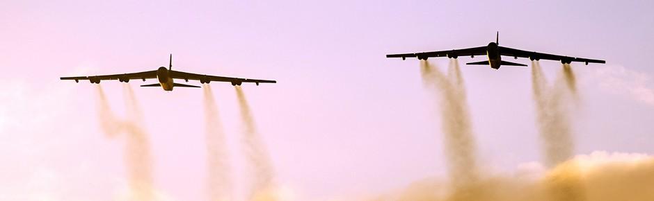 US-Langstreckenbomber B-52 üben in Europa