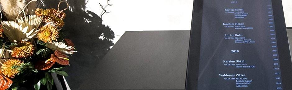 Auslandseinsätze: Gedenkstele im Bundestag ehrt die Toten