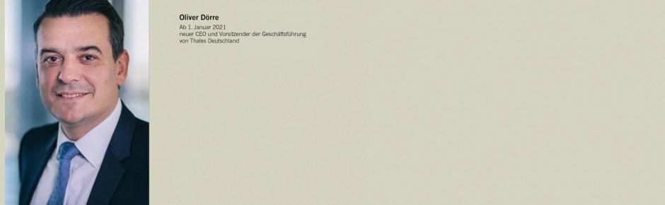 Thales Deutschland: Chefwechsel zum 1. Januar 2021