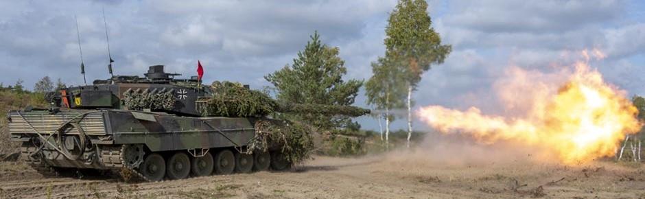 Genug Munition für Kampfpanzer Leopard 2 bis Ende 2028