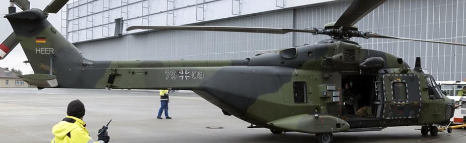 NH90 erstmals zur Wartung in Dresden