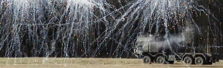 Nebelschutzsystem ROSY für Bundeswehr-Lastkraftwagen