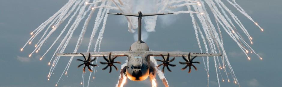 Flugzeug mit Flügel – der Airbus A400M