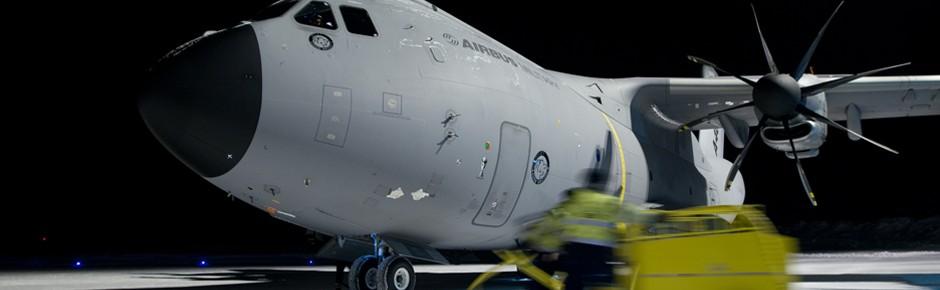 A400M bringt erstmals Fracht der Bundeswehr in die USA