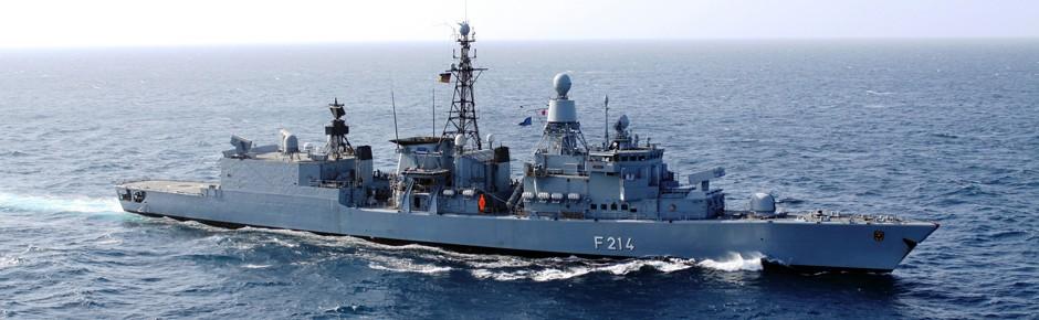 Wachwechsel der deutschen Marine am Horn von Afrika