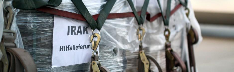 1365 Tonnen Militärgüter an die Peschmerga ausgeliefert