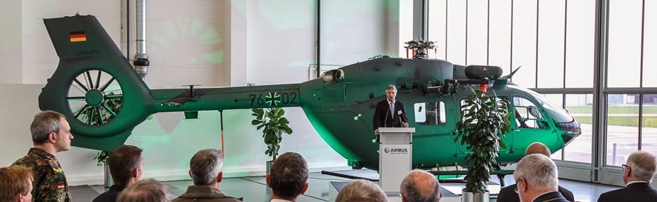 Erstflug des neuen Militärhubschraubers EC645 T2