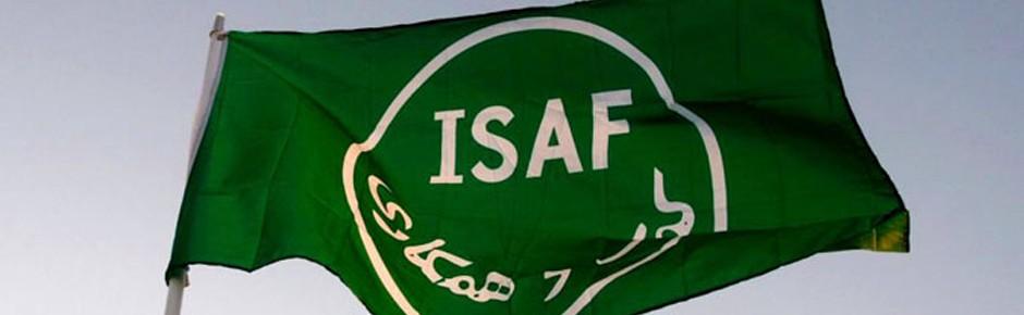 Grün-weiße ISAF-Flagge zur NATO zurückgekehrt