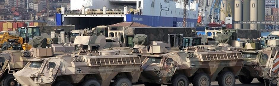 """Britannia Seaways"" brachte letztes Material aus Afghanistan"