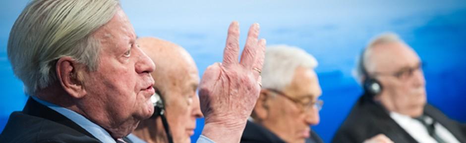 Bundeskanzler a.D. Helmut Schmidt: Mentor der Deutschen