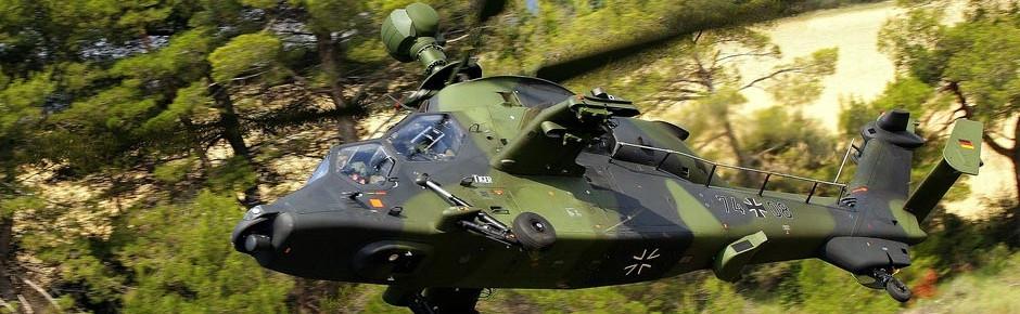 Hubschrauber des deutschen Heeres für die EU-Battlegroup