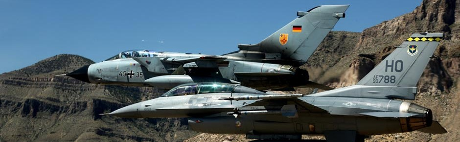 Letzter gemeinsamer Flug von Tornado und F-16 in Holloman
