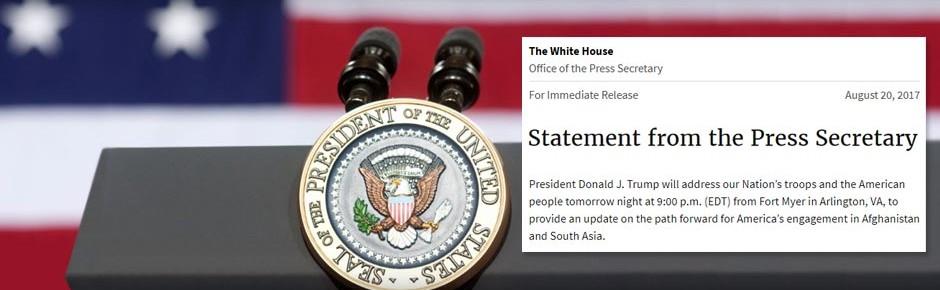 US-Präsident Trump präsentiert neue Afghanistan-Strategie