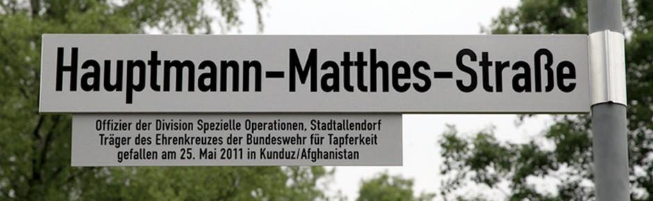 Stadtallendorf: Ehrung eines gefallenen Bundeswehroffiziers