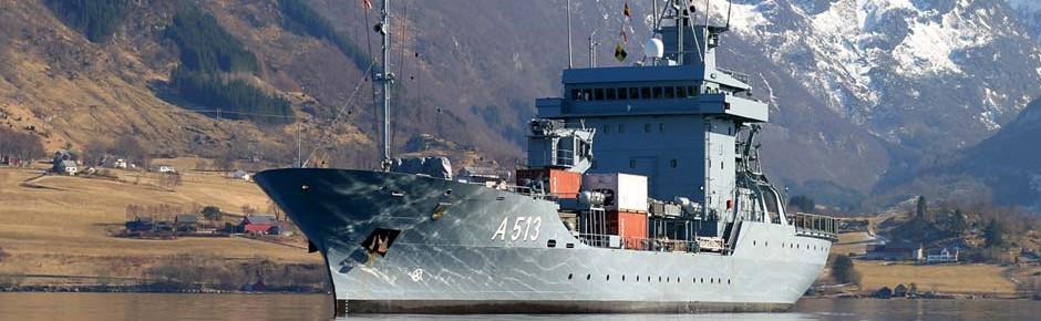 """Tender """"Rhein"""" führt maritimen Verband der NATO"""