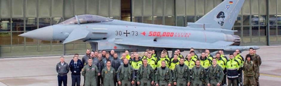 Eurofighter-Flotte verbuchte ihre 500.000 Flugstunde
