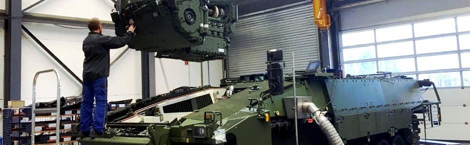 Ersatzteile und Sonderwerkzeuge für Schützenpanzer Puma