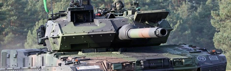 """Neue Kampfpanzer Leopard 2 A7V für die """"Thüringer Löwen"""""""